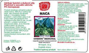 Etiketa produktu Maca - Cosmos®Medicinal