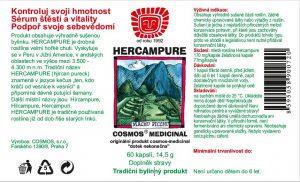 Etiketa produktu Hercampure - Cosmos®Medicinal