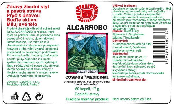 Etiketa produktu Algarrobo - Cosmos®Medicinal