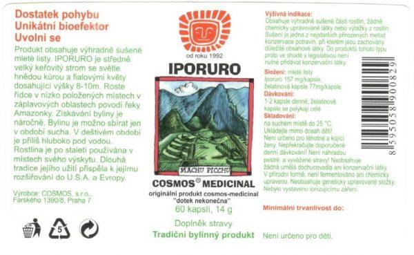Etiketa produktu Iporuro - Cosmos®Medicinal