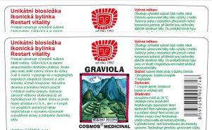 Etiketa produktu Graviola - Cosmos®Medicinal