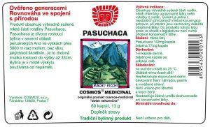 Etiketa produktu Pasuchaca - Cosmos®Medicinal