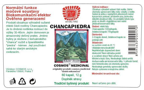 Etiketa produktu Chancapiedra - Cosmos®Medicinal