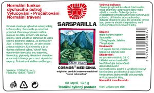 Etiketa produktu Sarsparilla - Cosmos®Medicinal