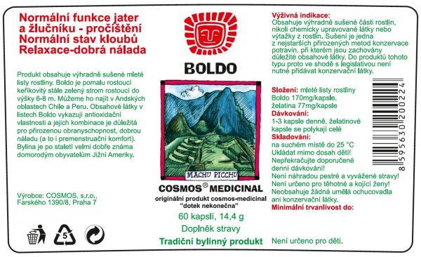 Etiketa produktu Boldo - Cosmos®Medicinal