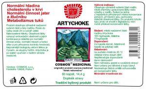 Etiketa produktu Artychoke - Cosmos®Medicinal