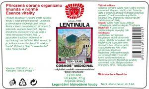 Etiketa produktu Lentinula - Cosmos®Medicinal