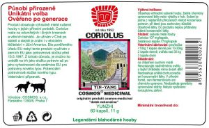Etiketa produktu Coriolus - Cosmos®Medicinal