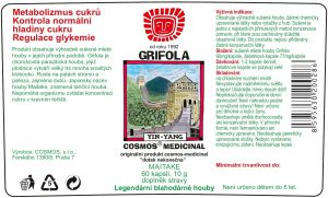 Etiketa produktu Grifola - Cosmos®Medicinal
