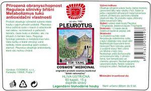 Etiketa produktu Pleurotus - Cosmos®Medicinal