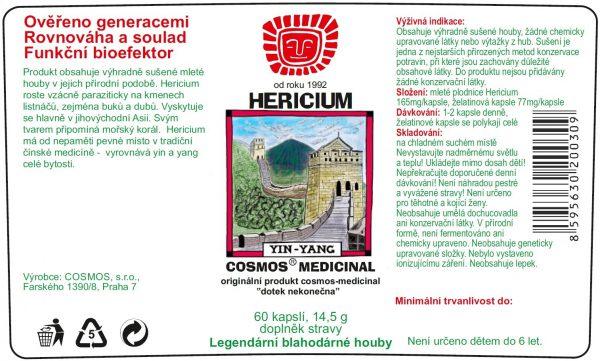 Etiketa produktu Hericium - Cosmos®Medicinal