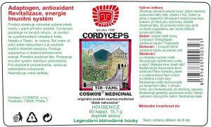 Etiketa produktu Cordyceps- Cosmos®Medicinal