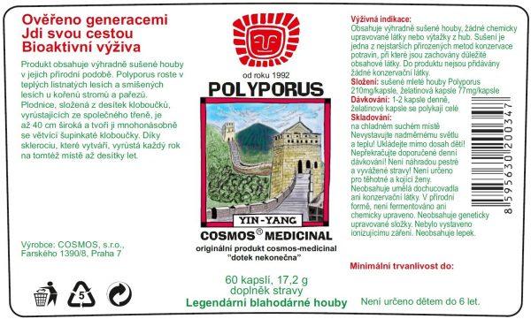 Etiketa produktu Polyporus - Cosmos®Medicinal